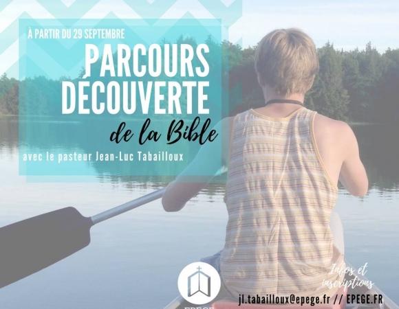 PARCOURS DÉCOUVERTEDE LA BIBLE